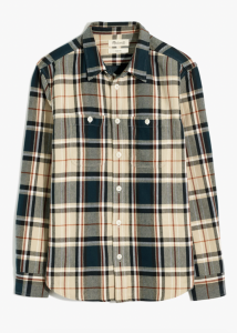 Twill Easy Long-Sleeve Shirt in Peterson Plaid