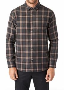 River Trim Fit Check Button-Up Shirt