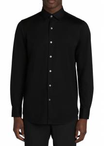 OoohCotton® Tech Solid Knit Button-Up Shirt