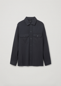 Relaxed-Fit Jersey Overshirt