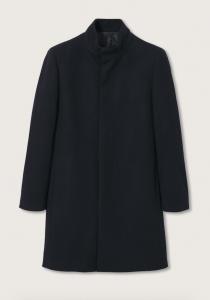 Wool Funnel Neck Coat