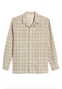 Dylan Check Wool Blend Button-Down Camp Shirt