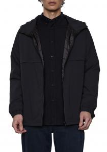 Technical Hooded Windbreaker Jacket