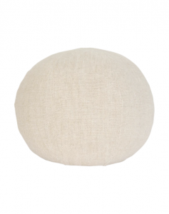 Round Linen Pillow