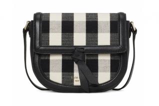 Knott Gingham Medium Saddle Crossbody Bag