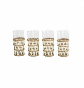 Seagrass Wrapped Glasses (Set of 4)