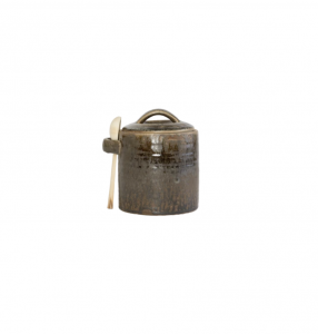 Deep Brown Canister & Spoon