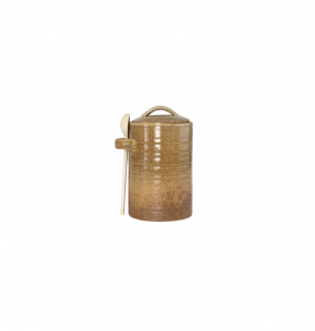Mustard Canister & Spoon