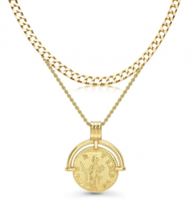 Lucy Williams Roman Coin Chain Necklace Set