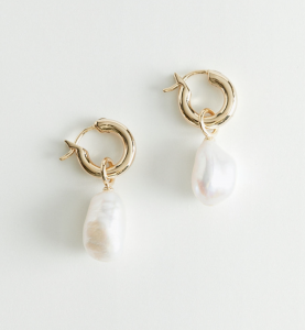 Pearl Charm Sterling Silver Earrings