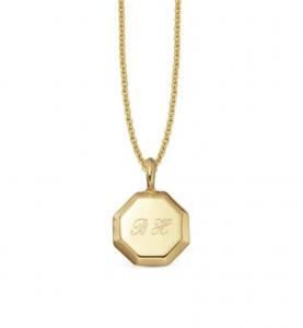 Engravable Short Mini Octagon Necklace