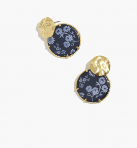Cottage Floral Disc Statement Earrings