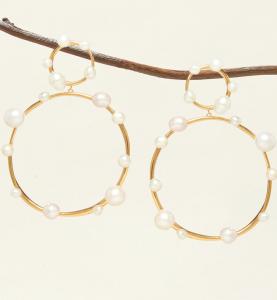 Isla Pearl Drop Earrings White Gold