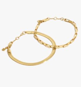 Two-Pack Chain Bracelet Set
