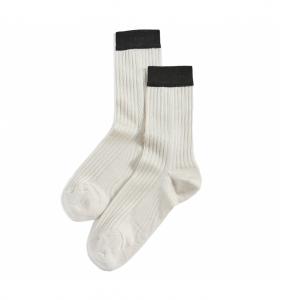 Blocked Rib Socks