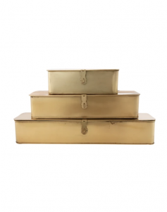 Rectangle Brass Boxes