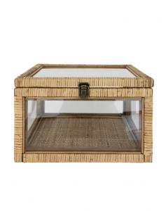 Rattan & Glass Box