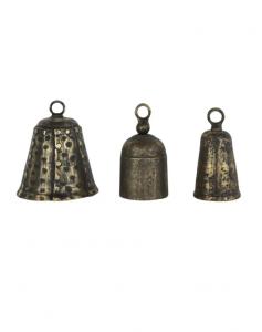 Aged Brass Bells (Set of 3)