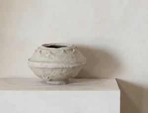 Vintage Paper Mache Pot