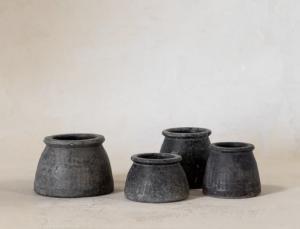 Vintage Mini Wood Pot