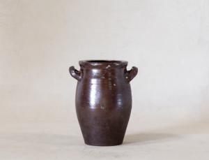 Vintage Handled Brown Pot