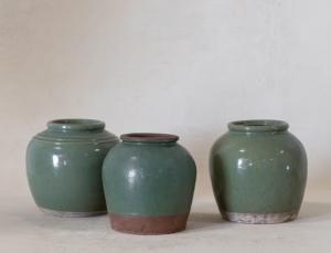 Vintage Green Jar