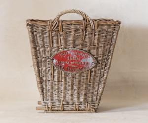 Vintage Medallion Basket