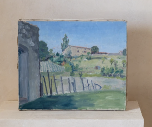 Vintage Countryside Landscape Painting