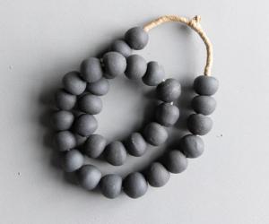 Found Storm Gray Beads