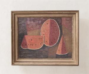 Vintage Watermelon Painting