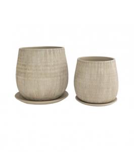 Lined Ceramic Pots