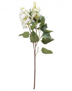 Faux White Lilac Stem