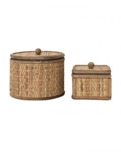 Woven Cane Tuscan Box