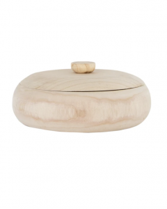 Lidded Natural Wood Container