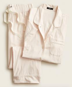 Dreamy Short-Sleeve Cropped Pajama Set