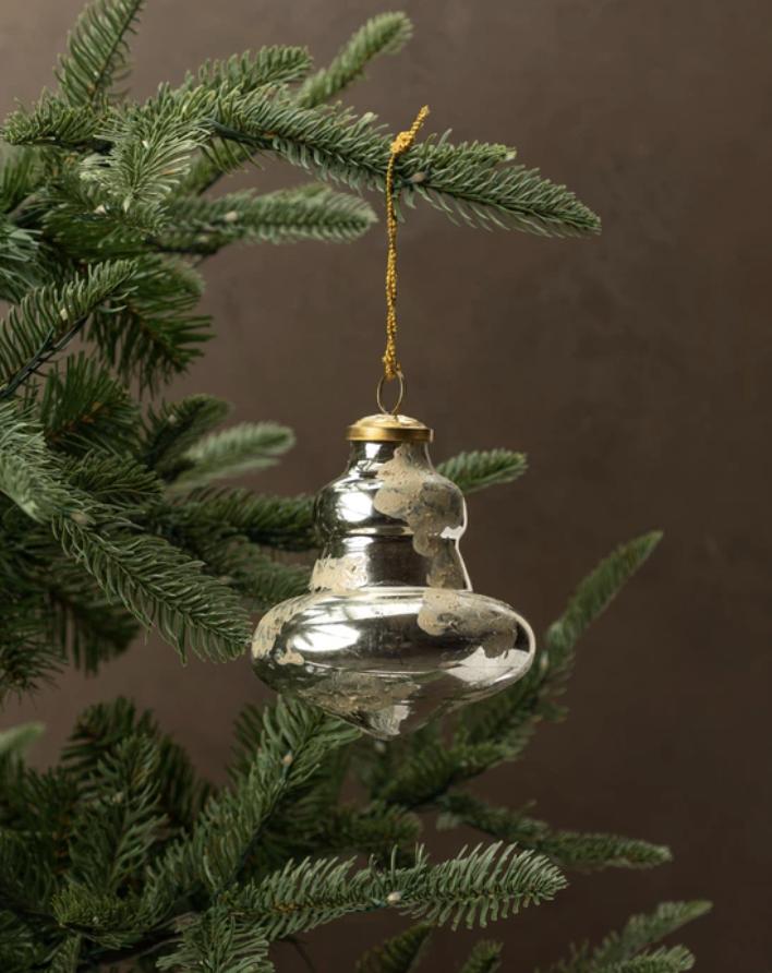 Distressed Cream Ornament