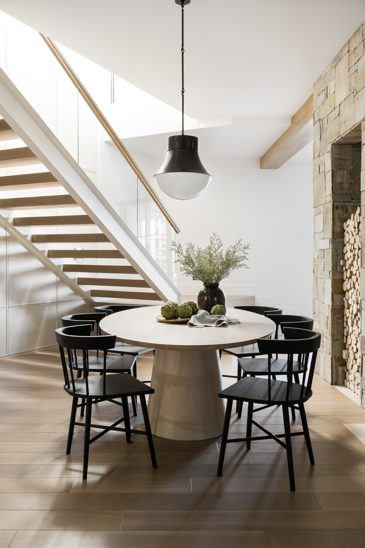 Mountainside Retreat: The Basement Dining Nook & Great Room