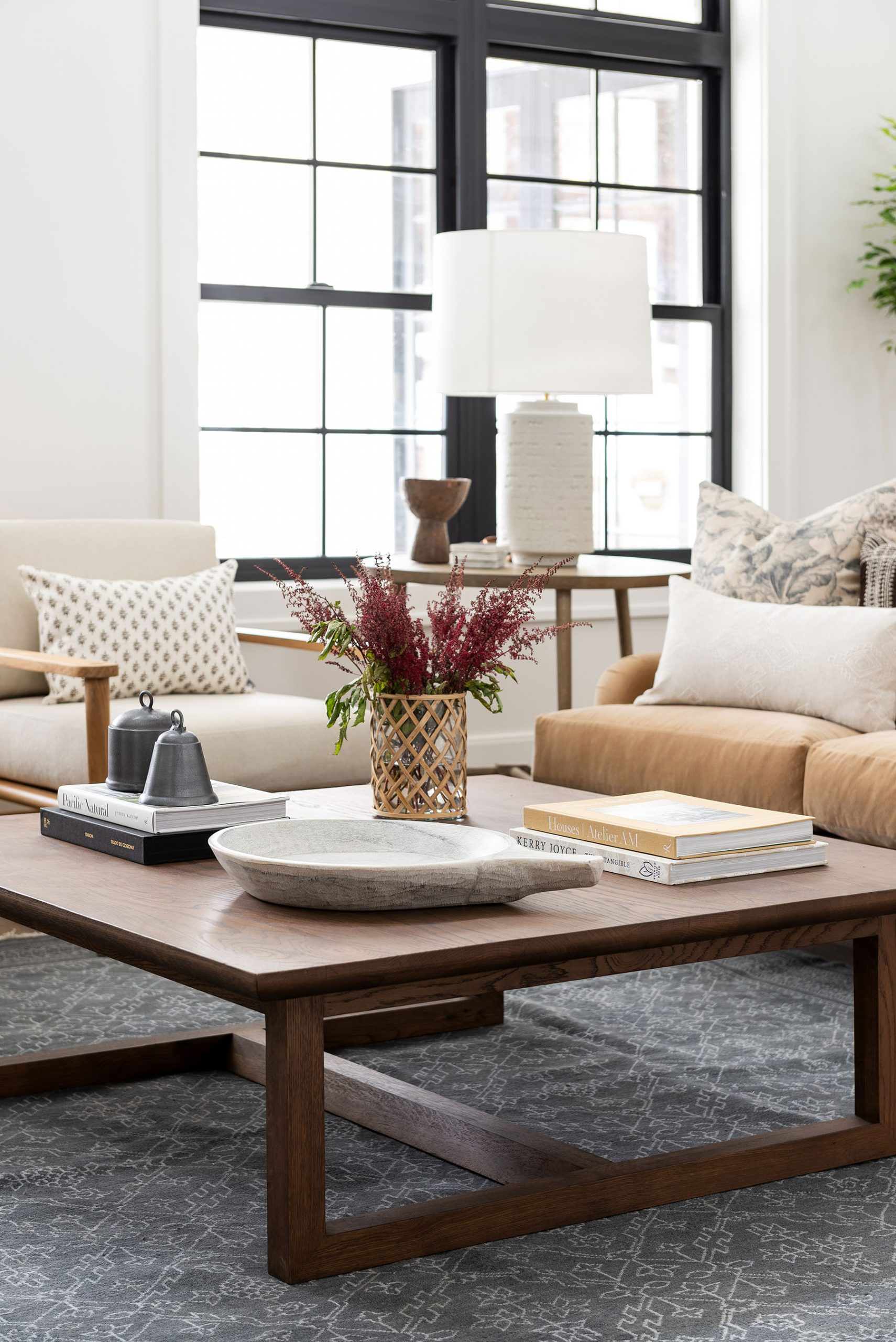 How to Style Square or Rectangular Coffee Table