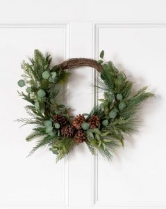 Pine & Eucalyptus Faux Wreath