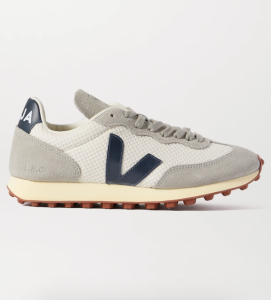 Rio Branco Leather-Trimmed Suede and Mesh Sneakers