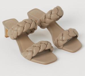 Braided Slip-in Sandals
