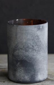 Rustic Black Glass Hurricane