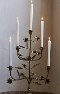 Brass Floral Candelabra