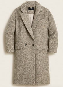 Relaxed Topcoat in Brushed Italian Wool