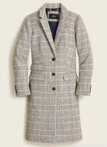 Dalton Topcoat in Glen Plaid English Wool