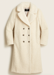 Double-Breasted Teddy Sherpa Topcoat