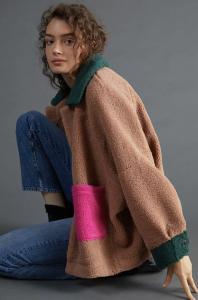 Colorblocked Kimono Jacket