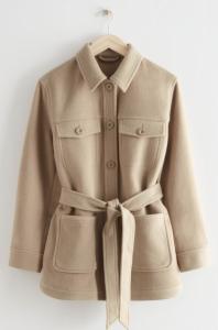 Belted Overshirt Jacket