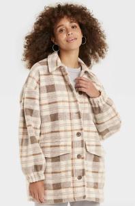 Women's Plaid Shirt Shacket