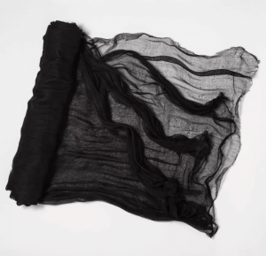 12.5' Jumbo Gauze Cloth Black Halloween Decorative Prop